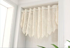 Pretty Rose Filet Lace Ivory Curtain Trim Valance