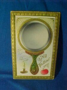 1911 HALLOWEEN POSTCARD w HAND MIRROR Design For TRUE LOVE REFLECTION