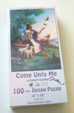 """Jesus With Animals """"Come Unto Me"""" by Corbert Gauthier 100 Piece Puzzle - SEALED"""