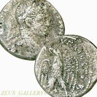 ELAGABALUS Silver Tetradrachm Large Ancient Roman Coin Eagle  Prieur 273 Scarce