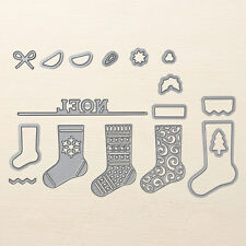 Stampin Up Sizzix Christmas Stockings Thinlits Dies NEW - Noel Set of 17