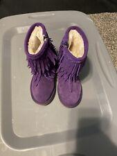Tucker + Tate 3 Layer Fringe Boot, Little Girl's Size 8, Purple