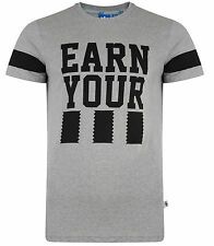 New - Men's Adidas Originals Earn Your Stripes Logo T-Shirt, Top - Grey & Black