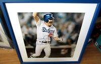 Kirk Gibson autographed Dodgers 1988 World Series HR 15x15 photo framed STEINER