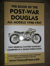 THE BOOK OF THE POST-WAR DOUGLAS MOTORCYCLE MkIII IV V 80 90 DRAGONFLY 1948-57