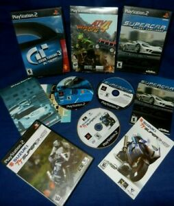 Lot of 4 PS2;NEW-ATV Offroad Fury 4,Suzuki TT Superbikes,Gran Turismo 3,Supercar