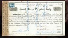 Marietta & Cincinnati Rail Road CO.-1863-stamp