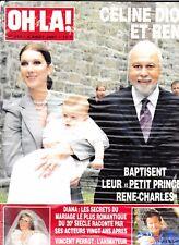 "Celine Dion ""Rare"" Oh La Magazine 2001 With Rene Baptism Also Princess Diana"