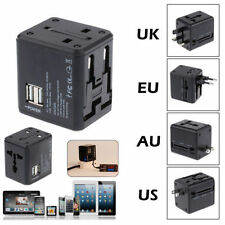 Universal USB AC Wall Power Outlet Converter Travel Adapter For Worldwide Use