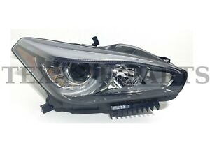 Fits 2014-2019 Infiniti Q70 Front Head Light Lamp Without AFS Right Side RH