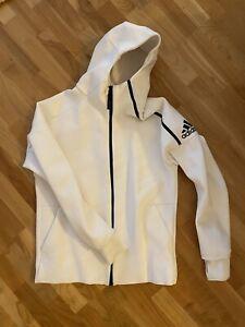 Adidas Herren Laufjacke Jacke Sport Weiß Größe L