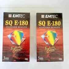 4 X Blank VHS Video Tapes Emtec SQ E-180 &
