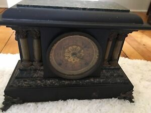 Antique Mantel Clock with Marble Top