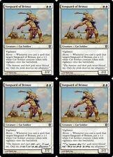 4x VANGUARD OF BRIMAZ Born of the Gods MTG White Creature — Cat Soldier Unc
