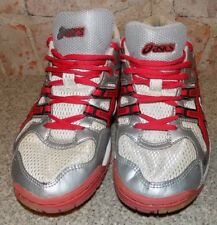 AASICS GEL ROCKETS WOMENS WHITE AND RED  SIZE  7 1/2