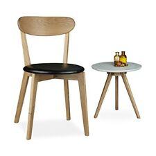 Relaxdays Chaise en bois de Chêne Coussin HxLxP 79 x 44 46 cm Salon Salle À...