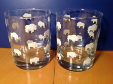 Vintage A.M & A's VERY RARE Adam Meldrum Anderson White Buffalo Rocks Glasses