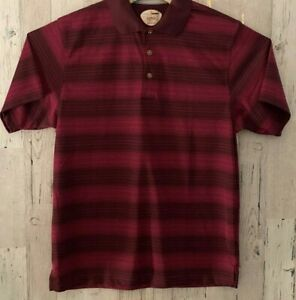 Grand Slam Performance Mens Shirt Large Red Polo Short Sleeve Golf Fitted