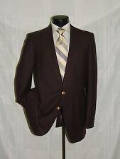 DAKS LONDON men's 2 button center vent 100% wool Brown blazer jacket coat 42 L