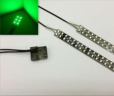 Verde PC Modding LED Funda Luz (Doble 40CM Tiras) Molex 60CM Colas Quad Densidad