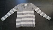 Abercrombie and Fitch Pullover grau gestreift S 36 oversize Langarm weich
