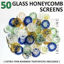 50 GLASS HONEYCOMB SCREENS: 7mm 8mm 9mm for slides bowls pipes [ FREE SHIPPING ]