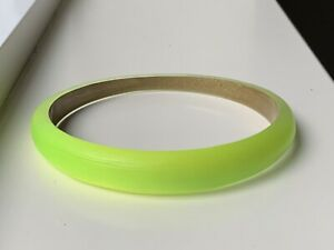 ALEXIS BITTAR Lucite Skinny Tapered Bangle Bracelet Opalescent Neon Yellow $110