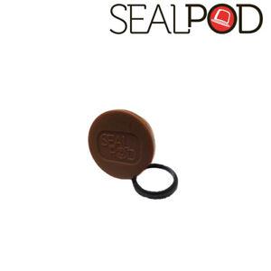 Sealpod Fresh Cover & Silicone Ring for Nespresso compatible Capsules (Brown)