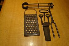 New listing Antique / Tongs Claw Ends / 2 Graters / Corkscrew / Curling Iron / 2 Openers