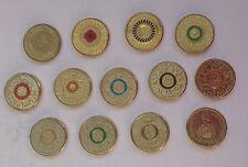 """1xComplete Set of AUSTRALIA 13""Commemorative $2 Dollar UNC Coins""ND 2012-2016"""