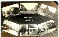 c1910s Greetings from Greene, Iowa 6 Picture Collage Real Photo Postcard RPPC IA