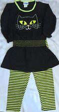 Girls Boutique 4 Black Cat Dress Halloween Outfit New Nwt Leggings Cwdkids $55