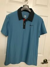 Roger Federer Nike 2009 French Open polo shirt mens Large RF tennis