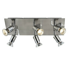 SALE - Brushed Chrome 6 Way GU10 Designer Ceiling Spot Spotlight Light Fitting
