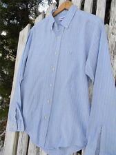 Vintage Mens Levis USA western long sleeves dress shirt EUC cowboy blue sz L