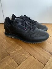 Reebok Classic Black Leather Trainers UK 9