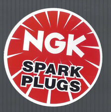 """NGK SPARK PLUGS DECAL RAT ROD TOOL BOX COOLER STICKER 3"""" ROUND IN SIZE"""