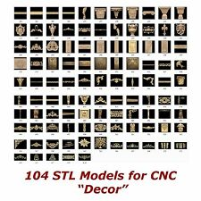 "104 3d STL Models - ""Decor Collection"" for CNC relief artcam 3d printer aspire"