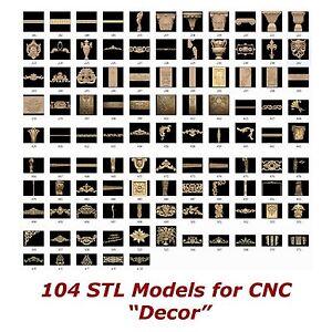 "104 3d STL Models - ""Decor Collection"" for CNC relief artcam 3d printer aspire"