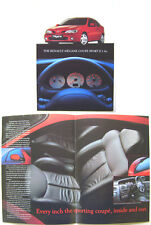 Renault Megane Coupe Sport II 1.6e 1998-99 UK Brochure