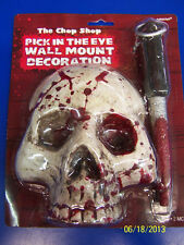 Chop Shop Halloween Haunted House Party Pick in the Eye Wall Mount Decoration