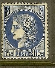 "FRANCE TIMBRE STAMP N°372 ""TYPE CERES, 1 F 75 BLEU"" OBLITERE TB"