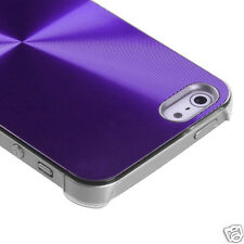 APPLE iPHONE 5 BRUSHED ALUMINUM CASE BACK COVER PHONE ACCESSORY PURPLE
