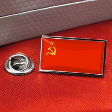 USSR Soviet Union Hammer Sickle Flag Lapel Pin Badge / Tie Pin