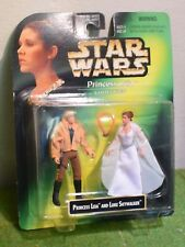 Star Wars Princesa Leia Colección cardada tarjeta verde con Luke Skywalker