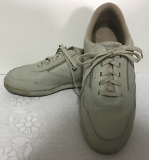 Men Rockport beige Prowalker lace up Shoes M7102 leather uppers size 9M G239