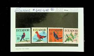 ECUADOR BIRDS 4v MH STAMPS #645-48