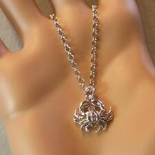 SILVER second hand crab pendant & chain