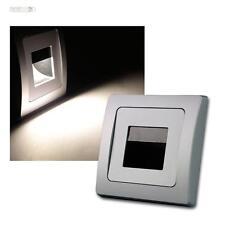 DELPHI LED Einbauleuchte COB silber 110lm 80x80mm Wandeinbauleuchte Treppenlicht