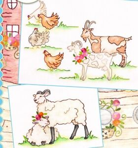 Noah's Journey #7 - Goats & Sheep Pattern by Crabapple Hill Studio